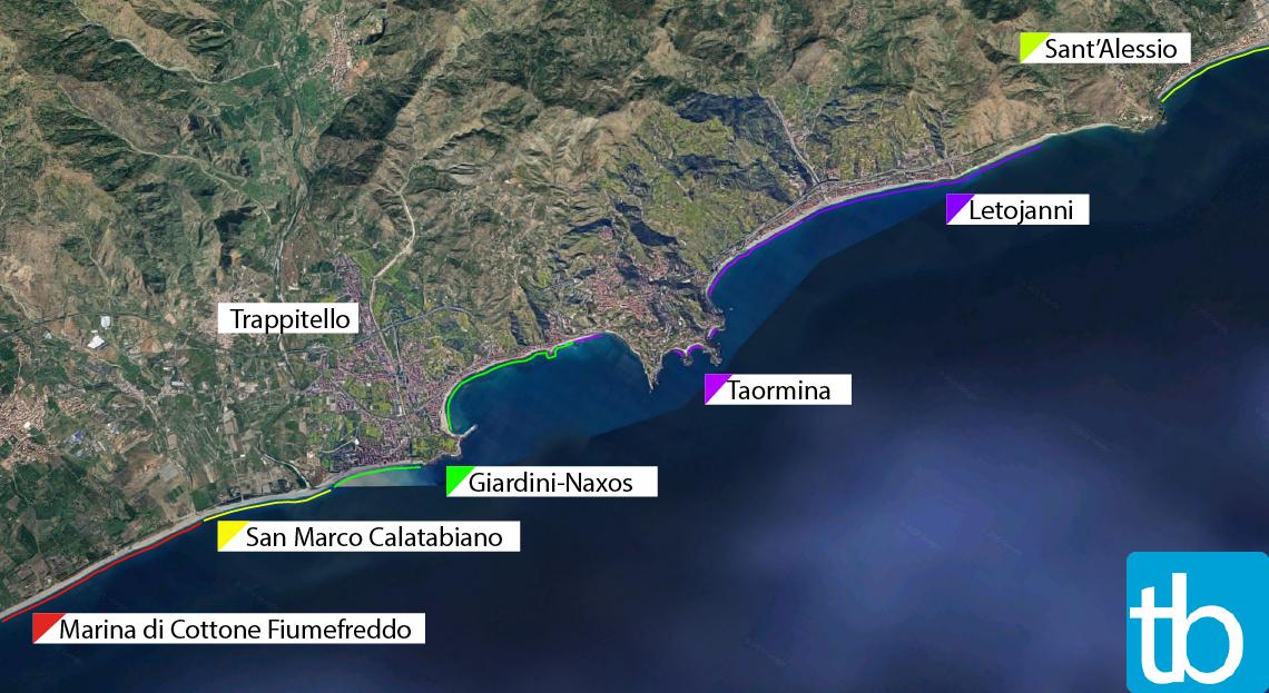 Taormina spiagge