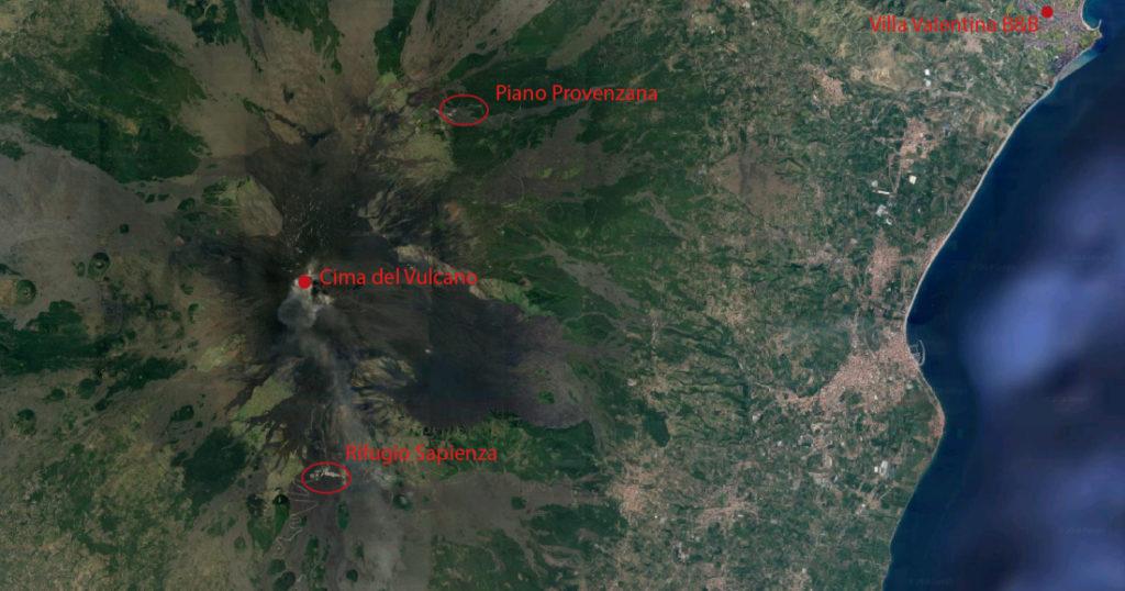 Etna vista da google earth