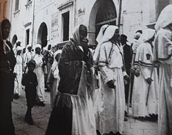 taormina foto storiche via crucis