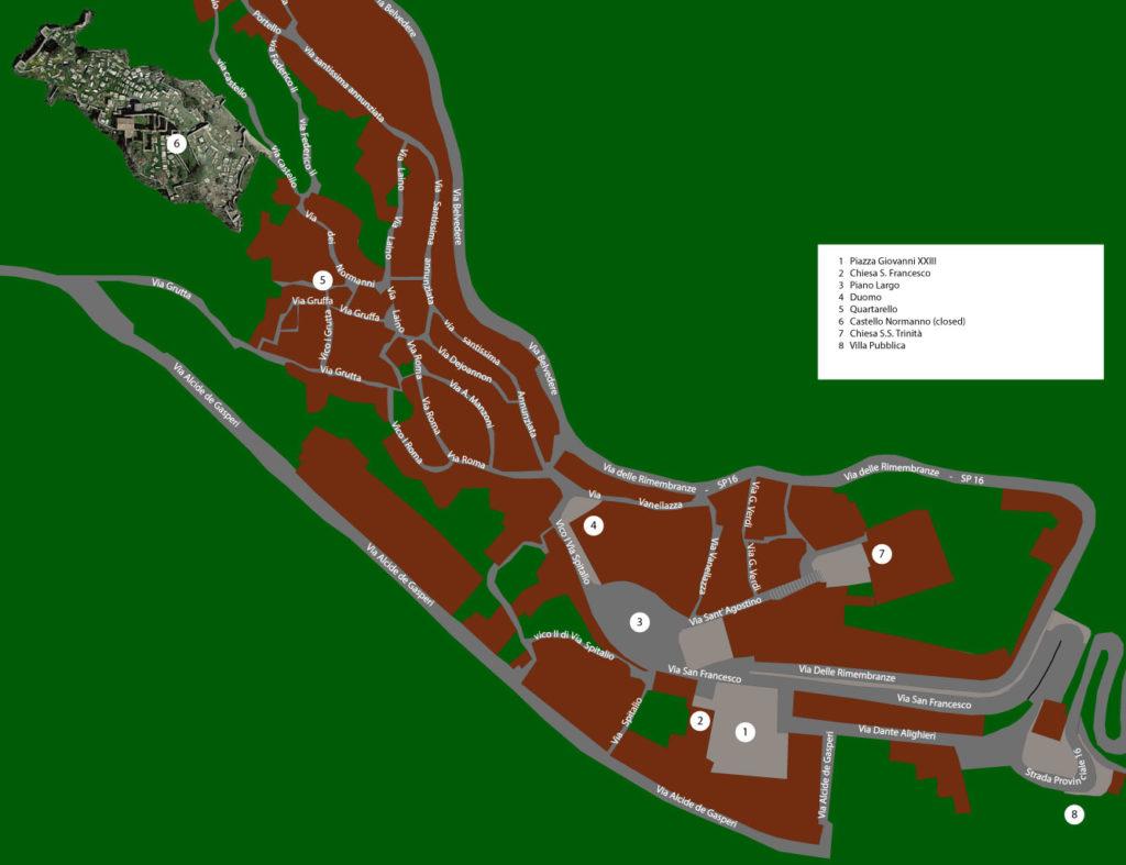 forza d'agrò mappa del tour realizzata da taobook