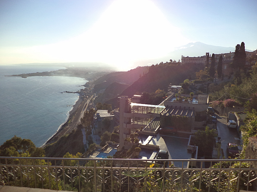 taormina villa comunale tour foto panorama giardini-naxos