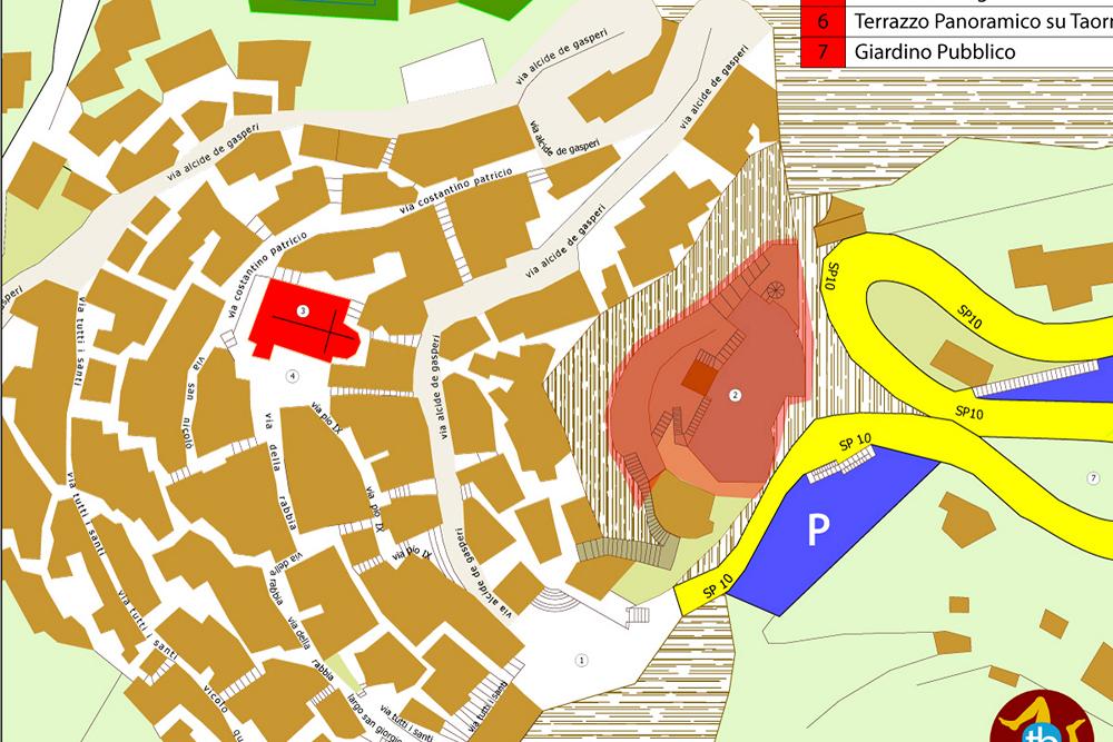 mappa cartacea di castelmola