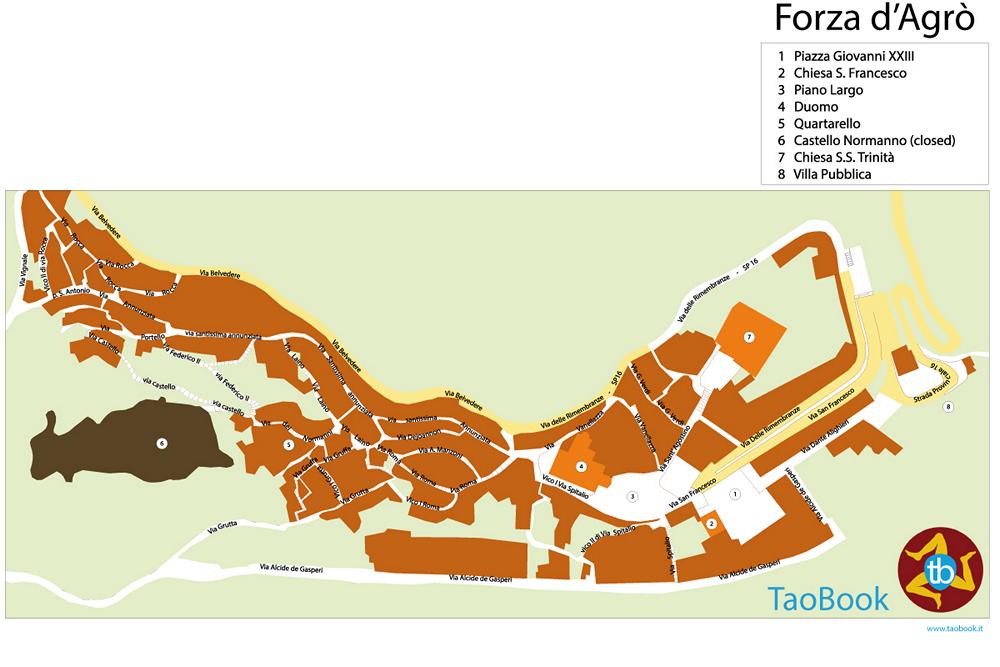 mappa cartacea forza d'agrò a4