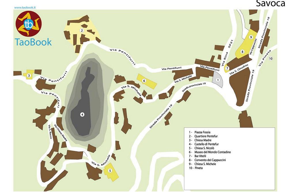 mappa savoca cartacea a4