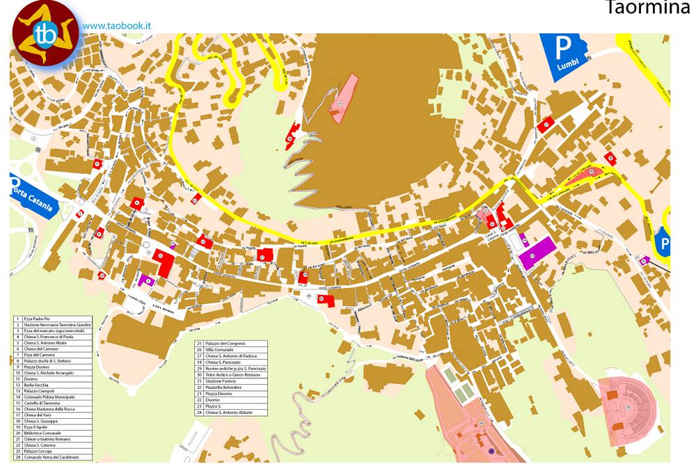 mappa cartacea taormina in pdf