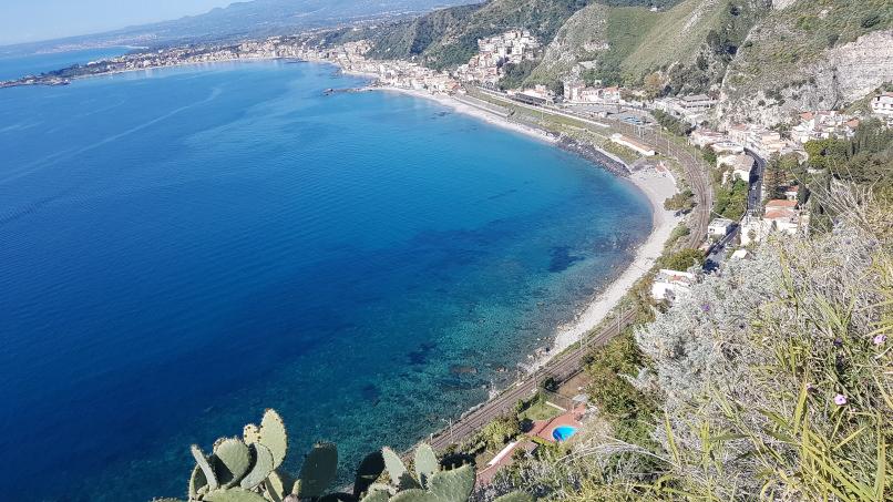 percorso da stazione taormina-giardini naxos a taormina villa comunale foto 9