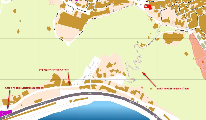 Mappa del percorso madonna delle grazie a Taormina
