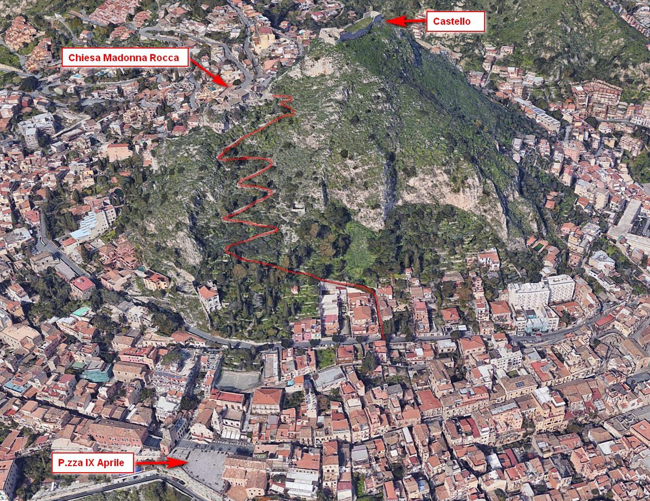 maps taormina salita castello